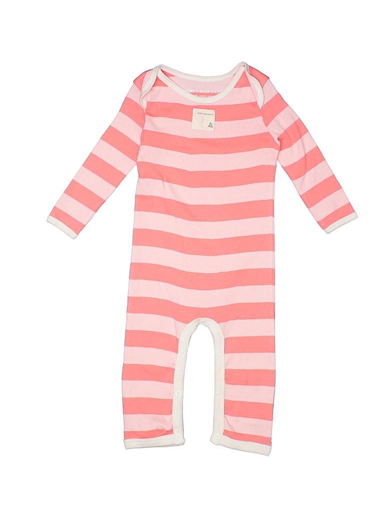ac05e2e06 Burt s Bees Baby 100% Cotton Stripes Orange Long Sleeve Onesie Size ...