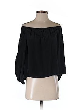 Boulee Long Sleeve Silk Top Size 4