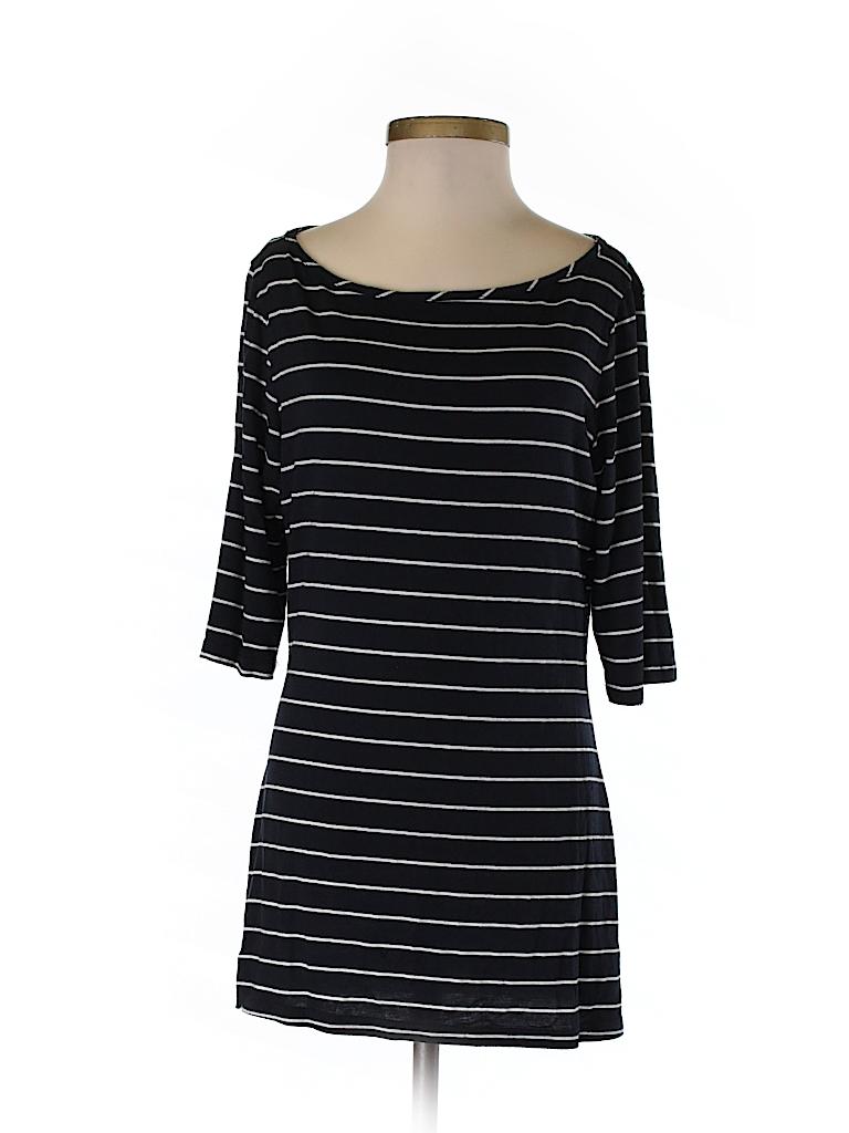 4e82bfd66299 Bar III Stripes Navy Blue 3/4 Sleeve T-Shirt Size S - 91% off | thredUP