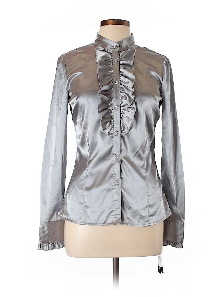 Iz Byer Women Long Sleeve Blouse Size L