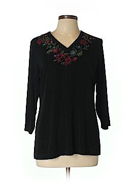 Laura Ashley 3/4 Sleeve Top Size L (Petite)