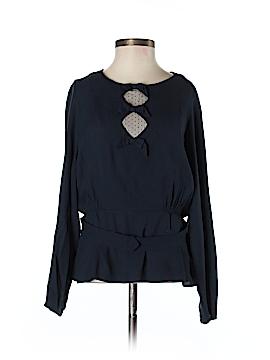 Sandro Long Sleeve Blouse Size Med (2)