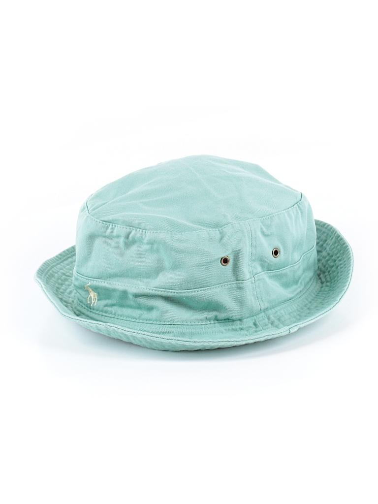 372afca45abdb Polo by Ralph Lauren 100% Cotton Solid Light Blue Bucket Hat Size L ...