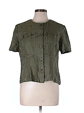 John Roberts Short Sleeve Button-Down Shirt Size 14