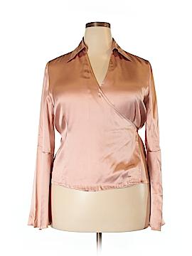 Newport News Long Sleeve Silk Top Size 18 (Plus)