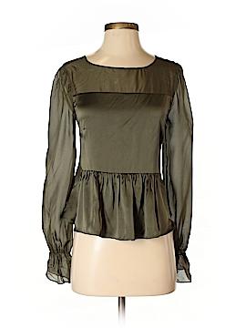 Intermix Long Sleeve Silk Top Size S