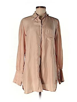 Nili Lotan Long Sleeve Silk Top Size M