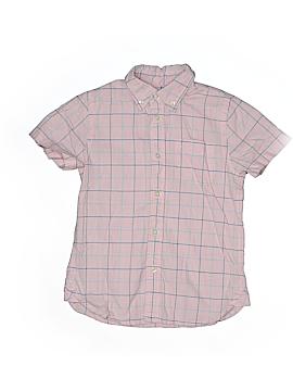 E. Land Short Sleeve Button-Down Shirt Size 6