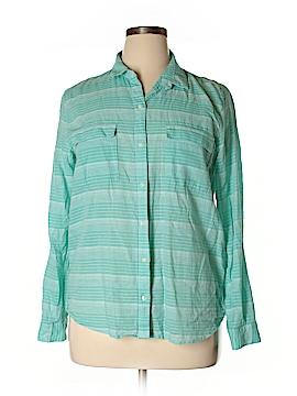 Gap Body Outlet Long Sleeve Button-Down Shirt Size L