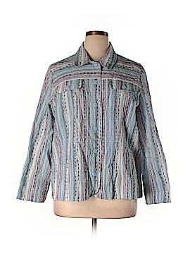 Draper's & Damon's Long Sleeve Button-Down Shirt Size 1X (Plus)