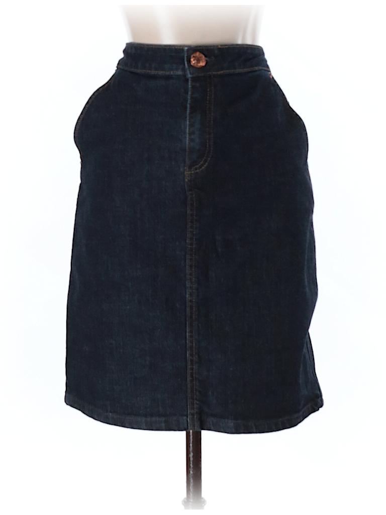 d9629324c Marc by Marc Jacobs Solid Dark Blue Denim Skirt Size 6 - 80% off ...
