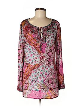 Dana Buchman Long Sleeve Silk Top Size 8