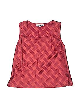 Caroline Rose Sleeveless Silk Top Size M