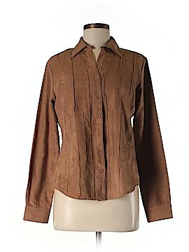Lemon Grass Long Sleeve Button-Down Shirt Size S