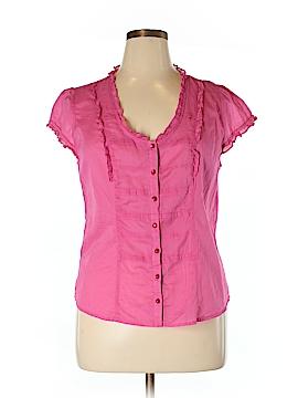 Ann Taylor LOFT Outlet Short Sleeve Button-Down Shirt Size 16