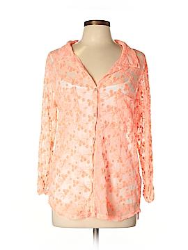 Velvet 3/4 Sleeve Blouse Size L