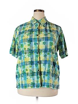 Bobbie Brooks Short Sleeve Button-Down Shirt Size 18 - 20 (Plus)