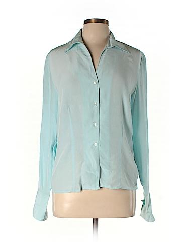 Jones Wear Long Sleeve Silk Top Size 12 (Petite)