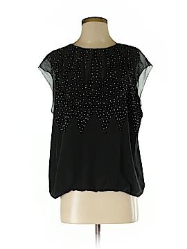 BCBGMAXAZRIA Runway Short Sleeve Silk Top Size M