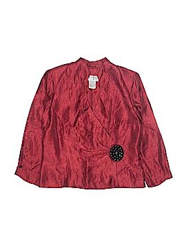 J.R. Nites by Carol Lin Long Sleeve Blouse Size 12
