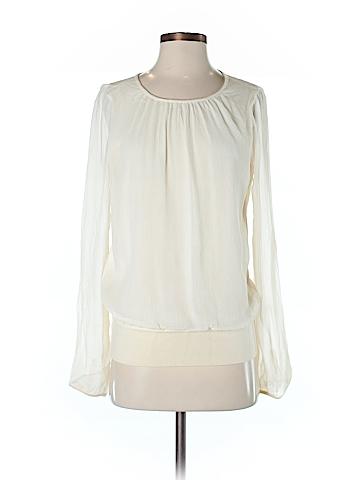 Ann Taylor Long Sleeve Silk Top Size M