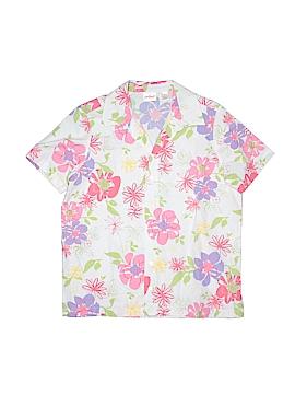 Chic Short Sleeve Button-Down Shirt Size M