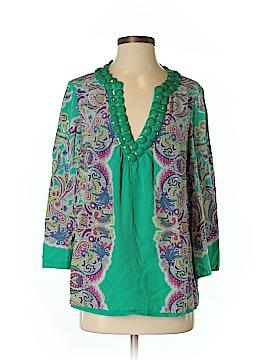 Tibi 3/4 Sleeve Silk Top Size 6