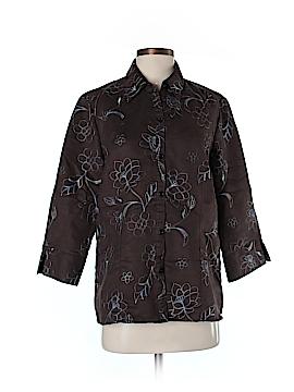 Sag Harbor Long Sleeve Button-Down Shirt Size M