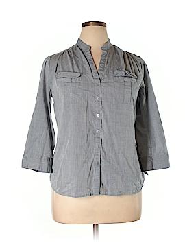Dalia Collection 3/4 Sleeve Button-Down Shirt Size XL