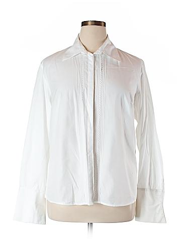 Rafaella  Long Sleeve Button-Down Shirt Size 16W