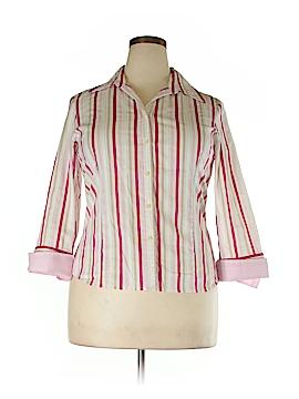 Talbots 3/4 Sleeve Button-Down Shirt Size XL