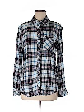 Beach Lunch Lounge Long Sleeve Button-Down Shirt Size XS