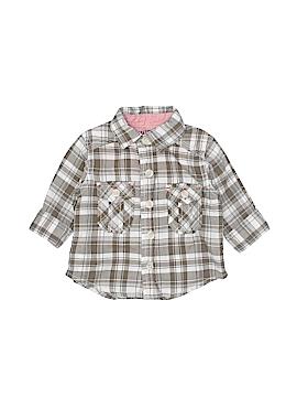 Genuine Baby From Osh Kosh Short Sleeve Button-Down Shirt Newborn