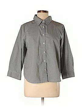 Charter Club 3/4 Sleeve Button-Down Shirt Size 16