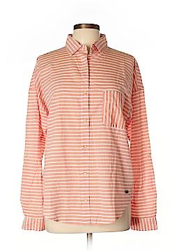 Quiksilver Long Sleeve Button-Down Shirt Size L