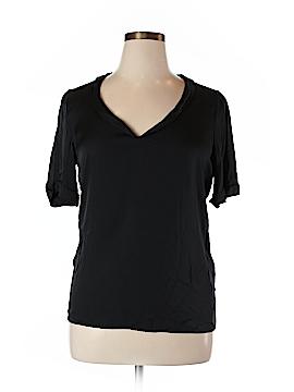 Elie Tahari Short Sleeve Silk Top Size L