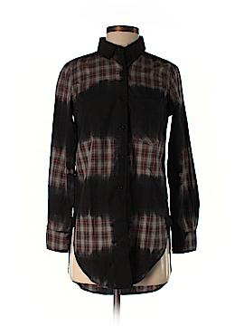 Monrow Long Sleeve Button-Down Shirt Size XS