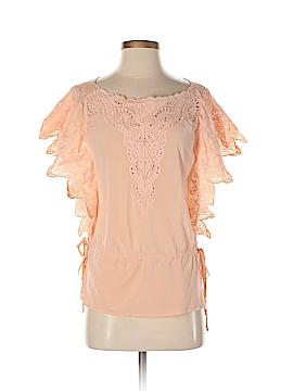 Skin Short Sleeve Silk Top Size S