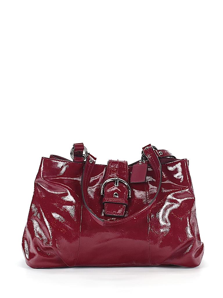 8a5173aaff14 Coach Solid Burgundy Shoulder Bag One Size - 61% off