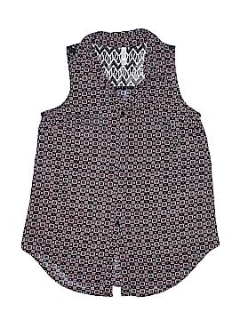 Xhilaration Sleeveless Button-Down Shirt Size S
