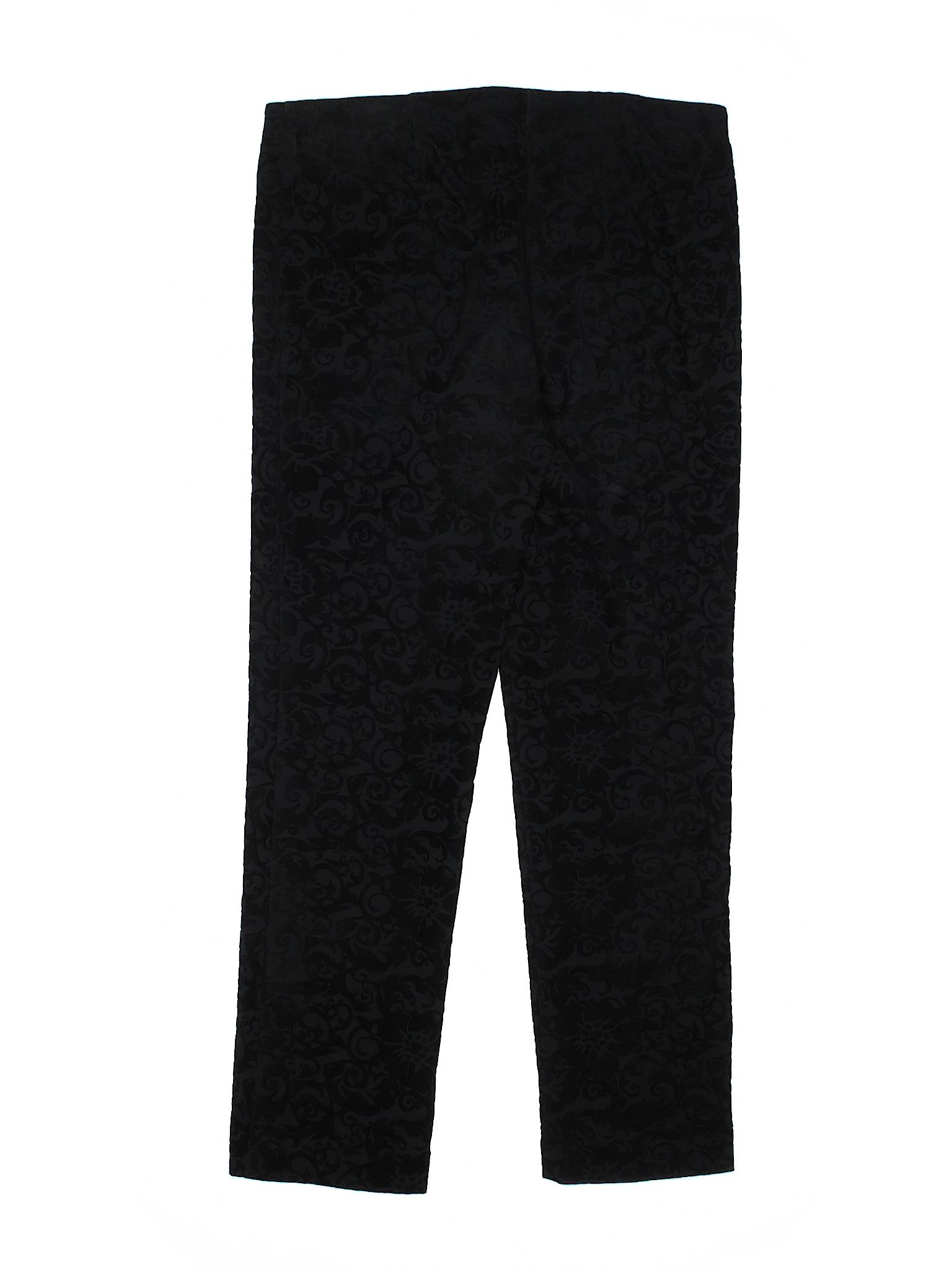 da4fd759267 Attyre New York Solid Black Velour Pants Size 4 - 88% off