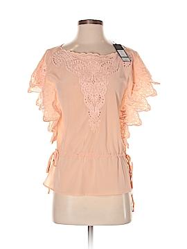 Yoana Baraschi Short Sleeve Silk Top Size XS