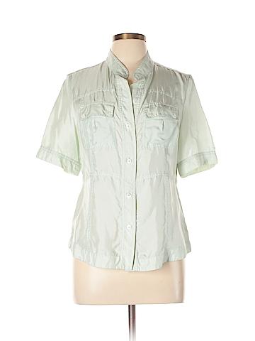 Banana Republic Short Sleeve Silk Top Size L
