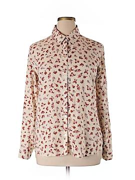 Love, Fire Long Sleeve Button-Down Shirt Size XL