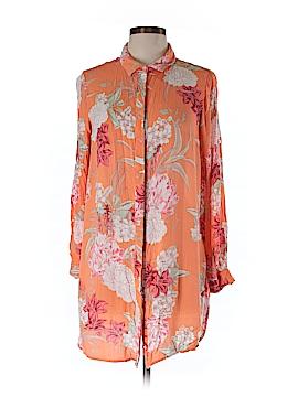 Mink Pink Long Sleeve Button-Down Shirt Size M
