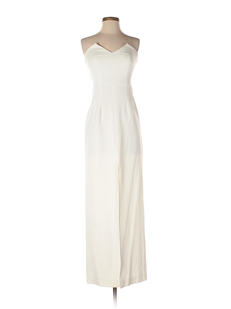 Assali Solid Ivory Cocktail Dress Size S - 74% off | thredUP