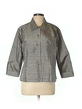 Field Manor 3/4 Sleeve Silk Top Size L