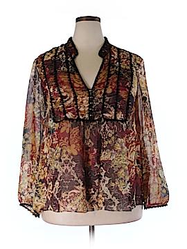 Lane Bryant Long Sleeve Silk Top Size 18/20 Plus (Plus)