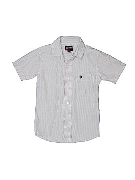 Swiss Cross Short Sleeve Button-Down Shirt Size 6