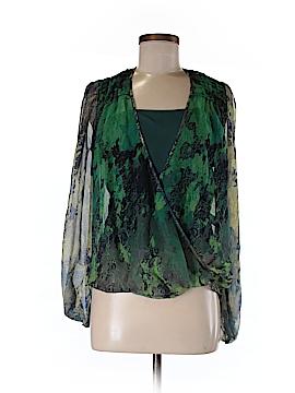 Charlie Jade Long Sleeve Silk Top Size S